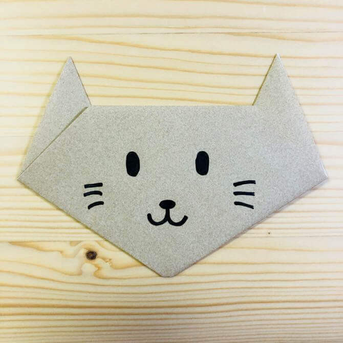 猫の折り方