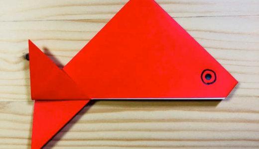 """簡単折り紙『きんぎょ』の折り方 How to fold Origami """"Goldfish"""""""