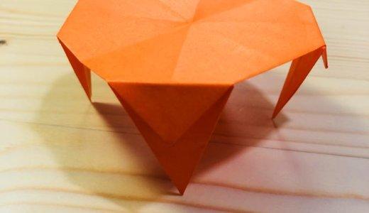 """簡単折り紙『テーブル』の折り方 How to make Origami """"Table"""""""