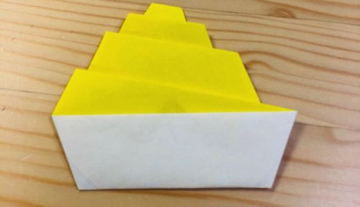 """簡単折り紙『モンブランケーキ』の折り方 How to fold origami """"Mont Blanc cake"""""""