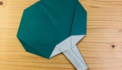 """簡単折り紙『うちわ』の折り方 How to fold origami """"paper fan"""""""